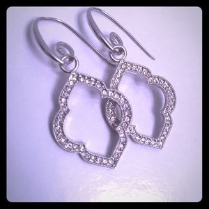 Origami Owl Quatrefoil Drop Earrings
